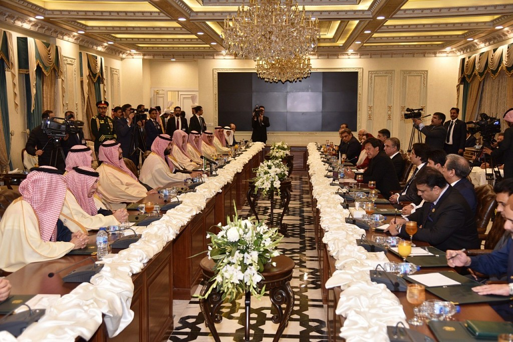 Saudi Arabia signs 20-bln-USD deals with Pakistan