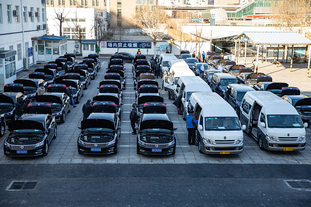 Beijing inspects vehicles for upcoming 'Two Sessions'