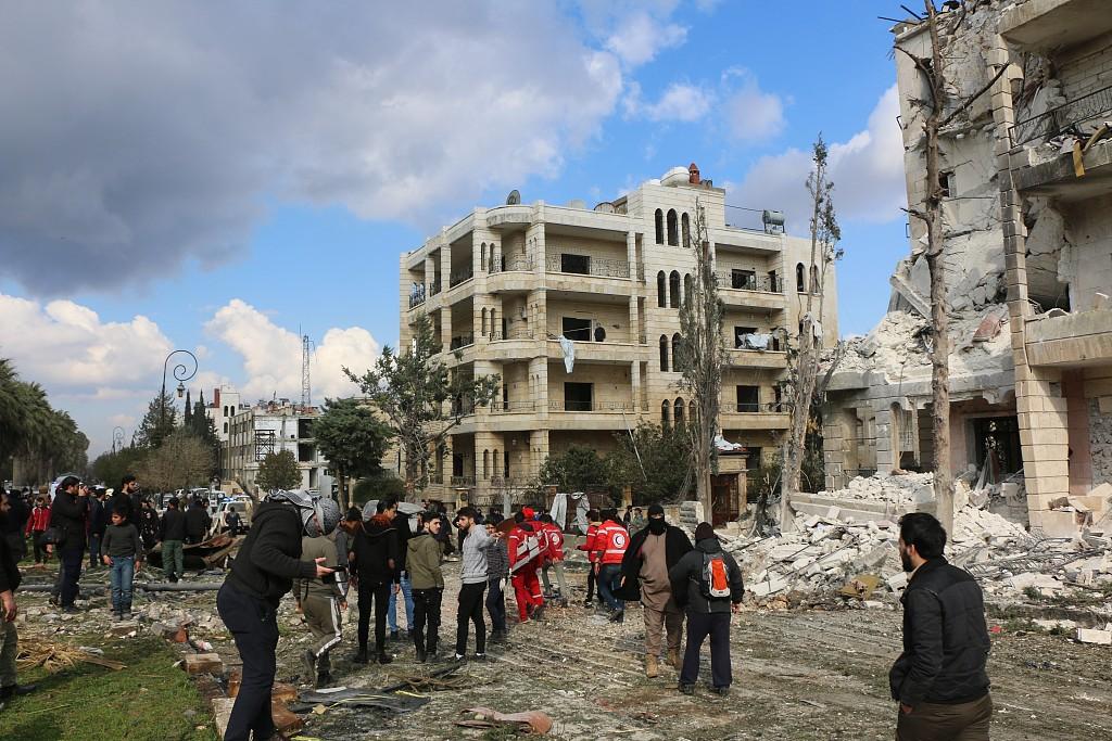 Double bombing in Syria's Idlib kills 13, mostly civilians: monitor