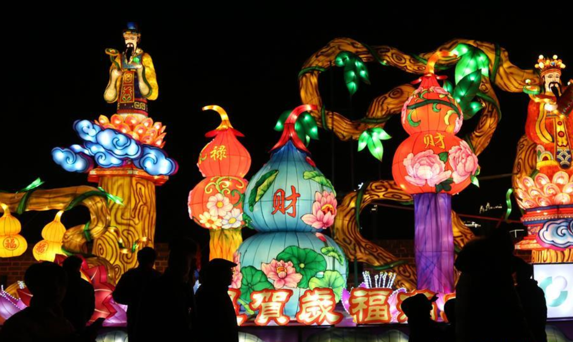 Colorful lanterns across China