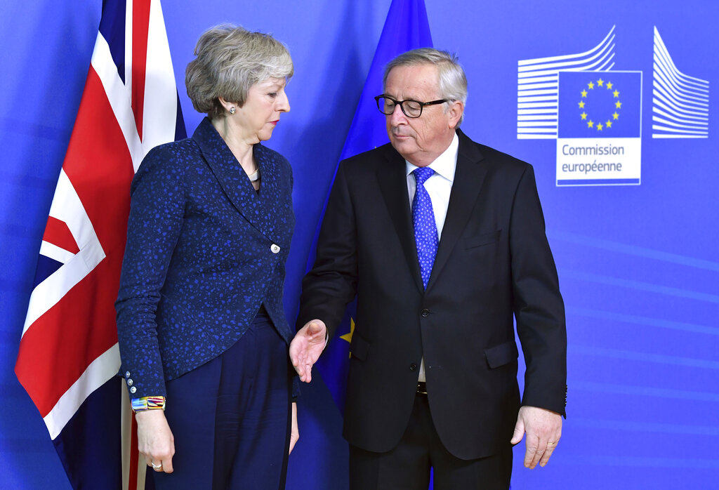 May, Juncker to meet again on Brexit Wednesday