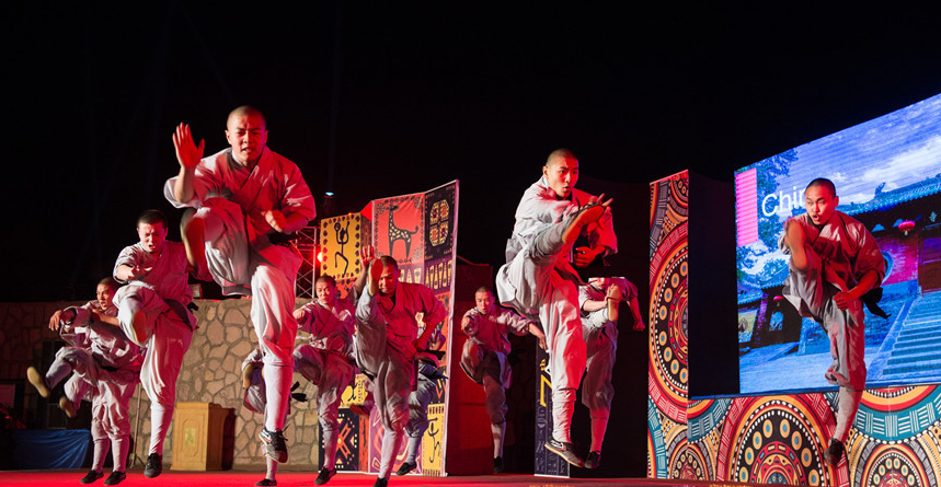 Chinese Shaolin Kung Fu group amazes audience at Egypt's Aswan arts festival