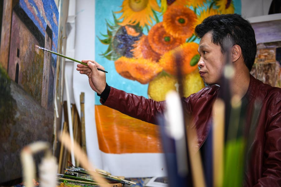 Oil painting village in Shenzhen shifts from reproduction to renovation