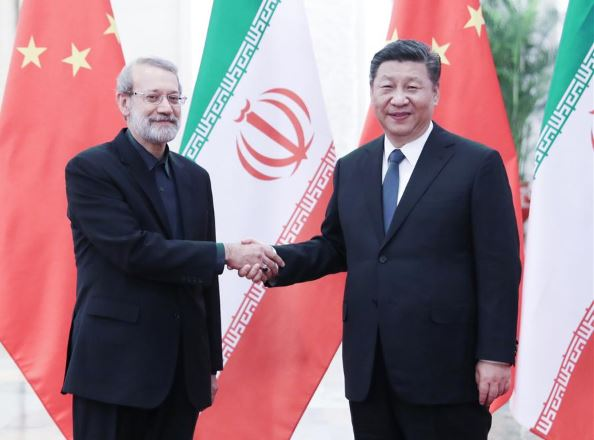 Chinese president meets Iran's parliament speaker