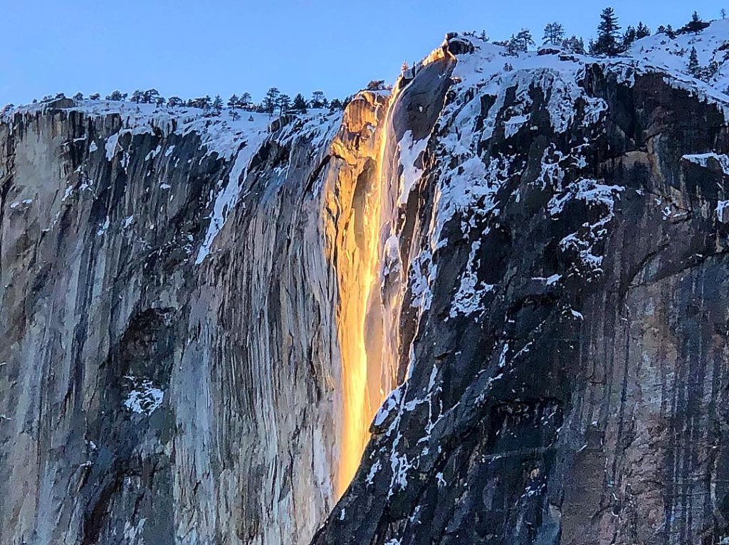 'Firefall' at Yoesemite National Park