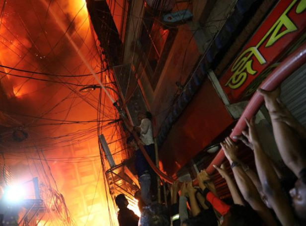 At least 81 dead as blaze rips through buildings in Bangladeshi capital
