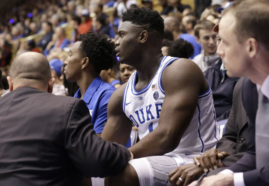 Duke's Williamson ruled out vs Syracuse with knee sprain