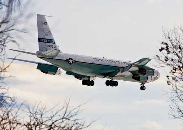 US plane conducts observation over Russia under int'l treaty