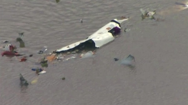 Amazon cargo jetliner with 3 on board crashes into bay east of Houston