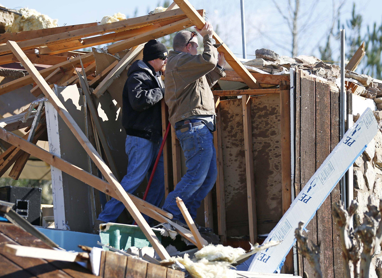 Tornado death confirmed as violent storms smack the South