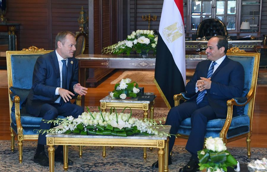 Egypt's Sisi meets with Donald Tusk in Sharm el-Sheikh, Egypt