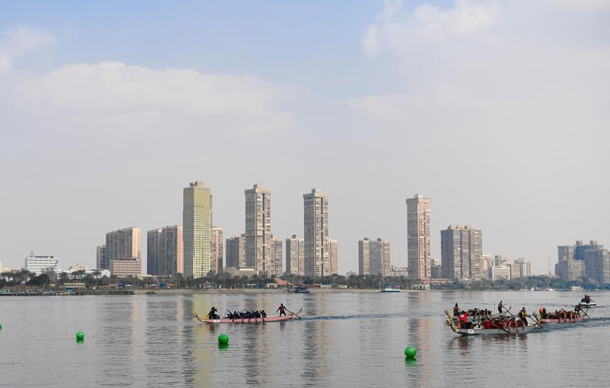 Egypt's Nile River hosts int'l dragon boat festival to celebrate Chinese New Year