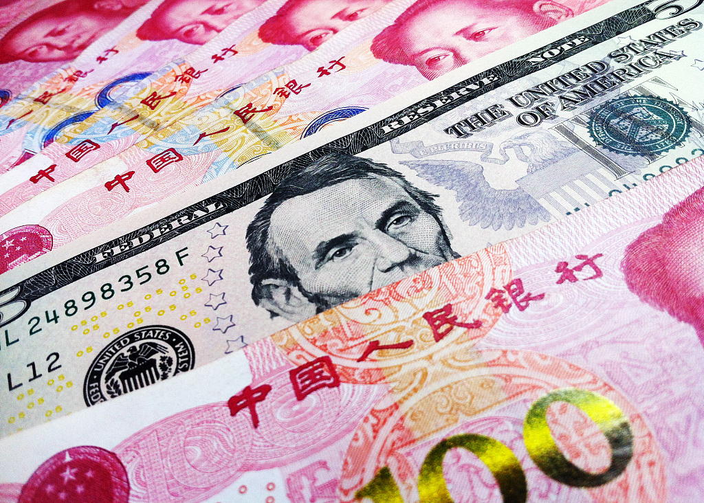 Chinese yuan strengthens to 6.7131 against USD Monday