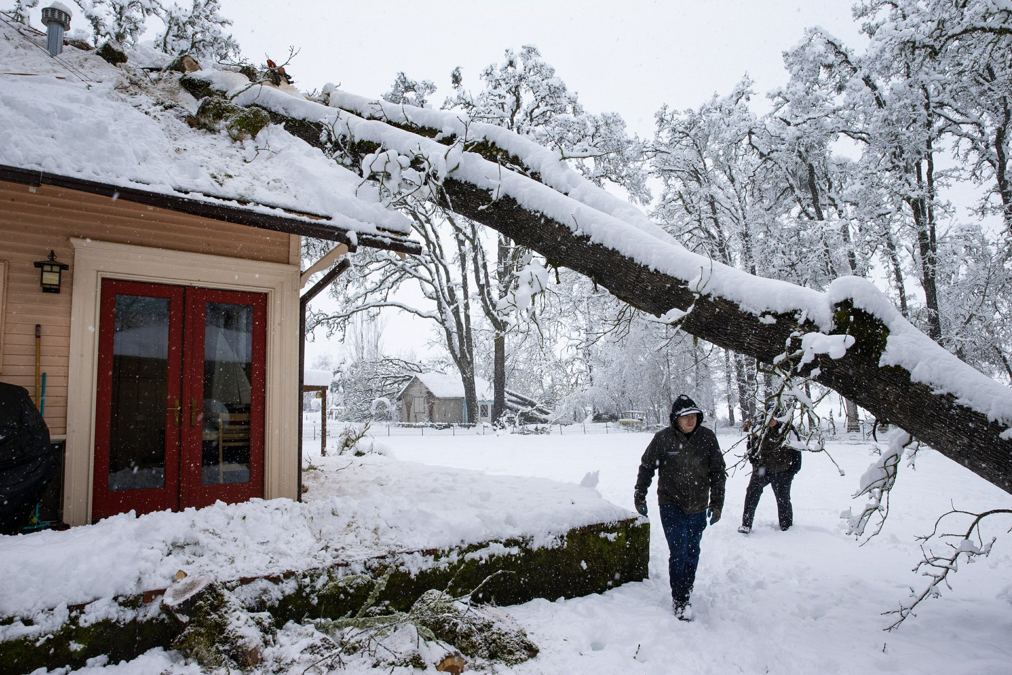 Strong winds, snowy weather hit West Coast
