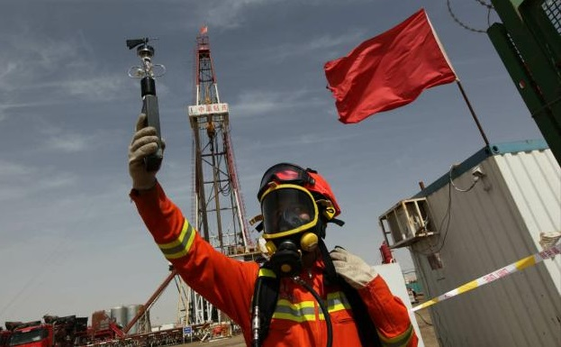 8588 meters! The deepest oil well on land in Asia
