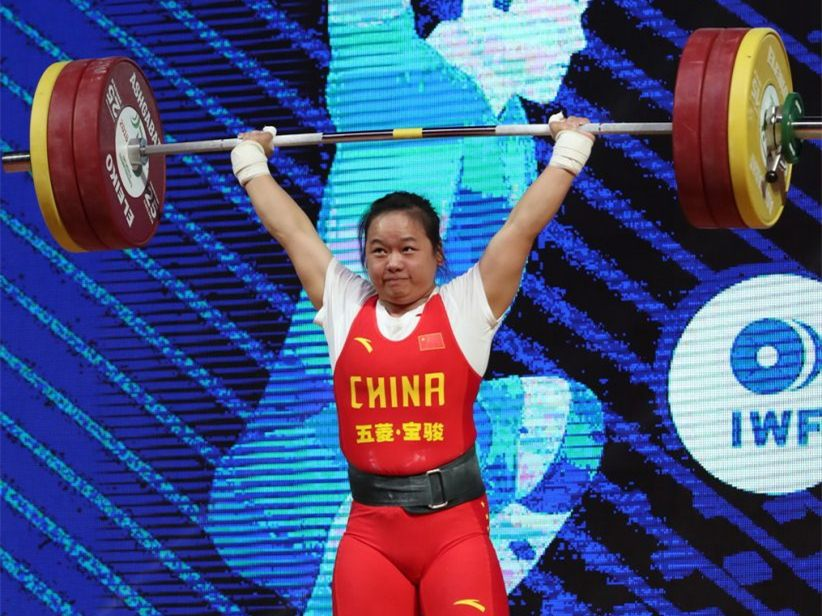 Chinese lifter Zhang Wangli sets new records at IWF World Cup