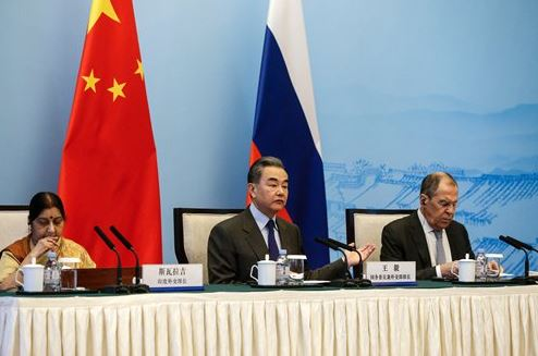 Chinese, Russian and Indian foreign ministers call for enhanced counter-terrorism cooperation