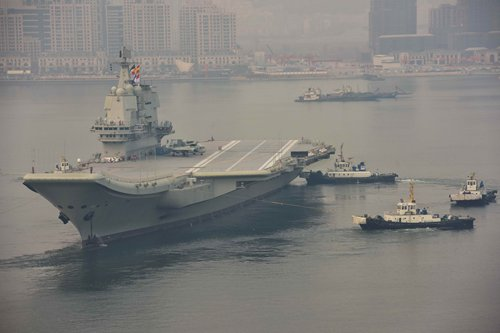 China's second aircraft carrier sets sail for fifth sea trial