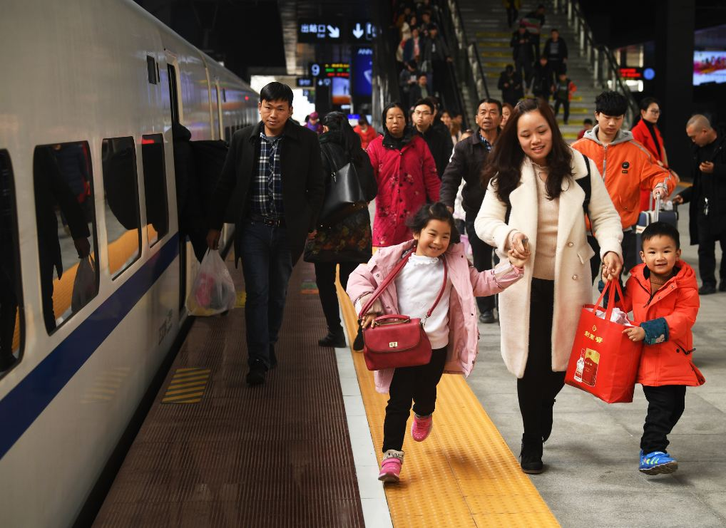 Three billion trips made during 40-day Spring Festival travel rush