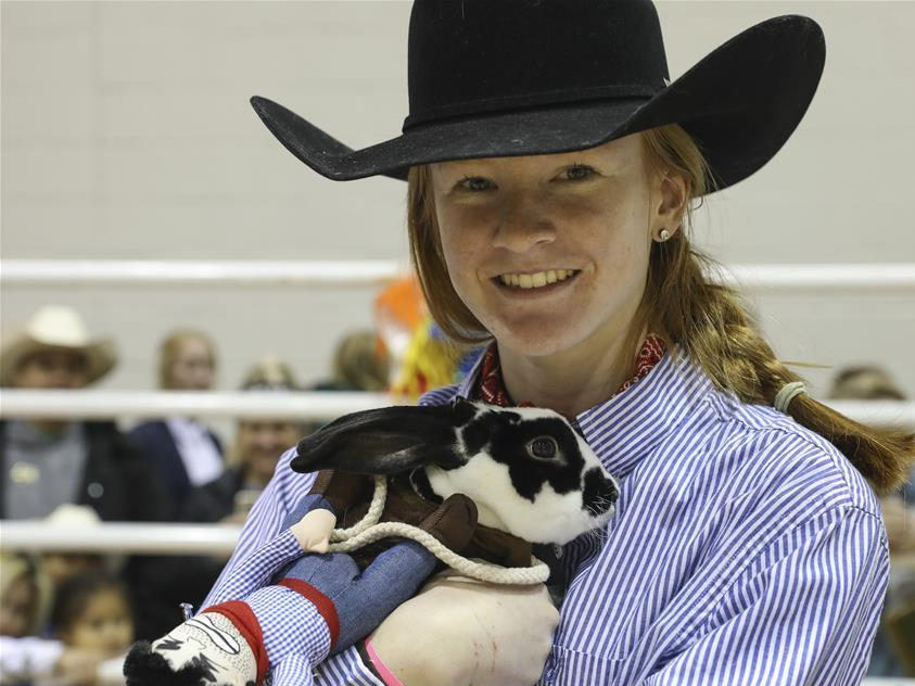 Youth Breeding Rabbit and Cavy Costume Contest held in Houston, US