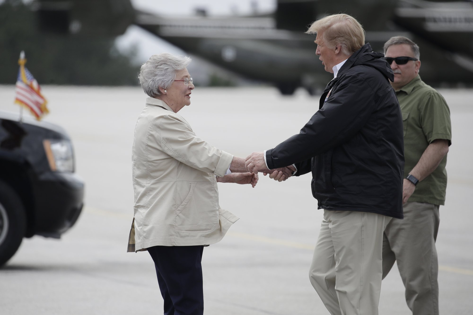 Trump tours tornado devastation in Alabama