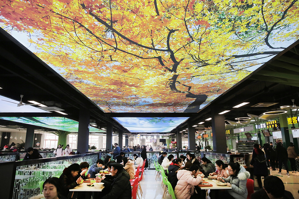 Pictures of fabulous university cafeteria go viral