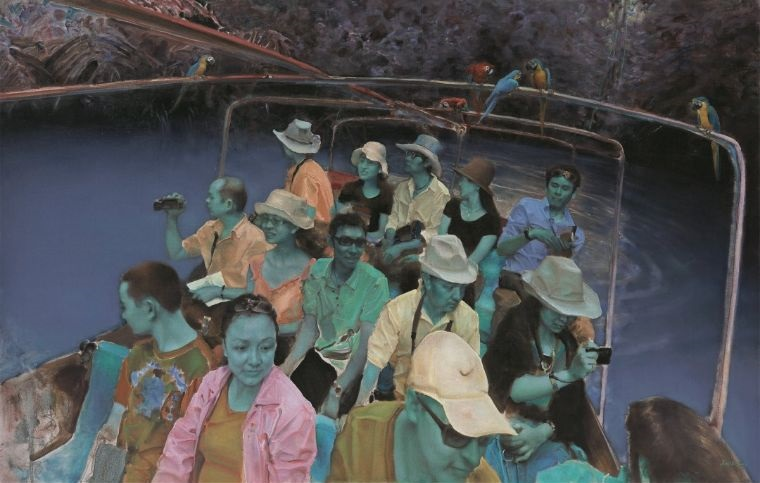 Visitors 'Encounter' artist Pang Maokun at new Beijing Minsheng Art Museum solo exhibition