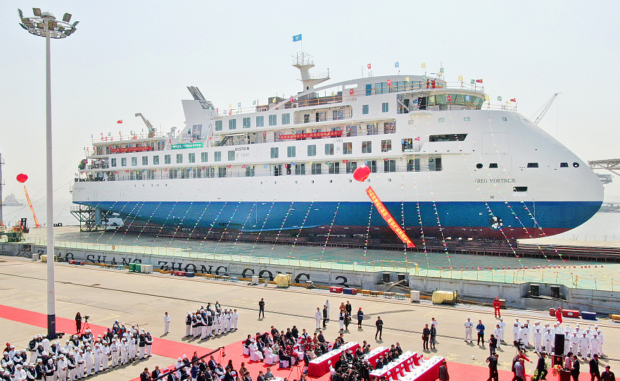 First China-made polar cruise ship tests water