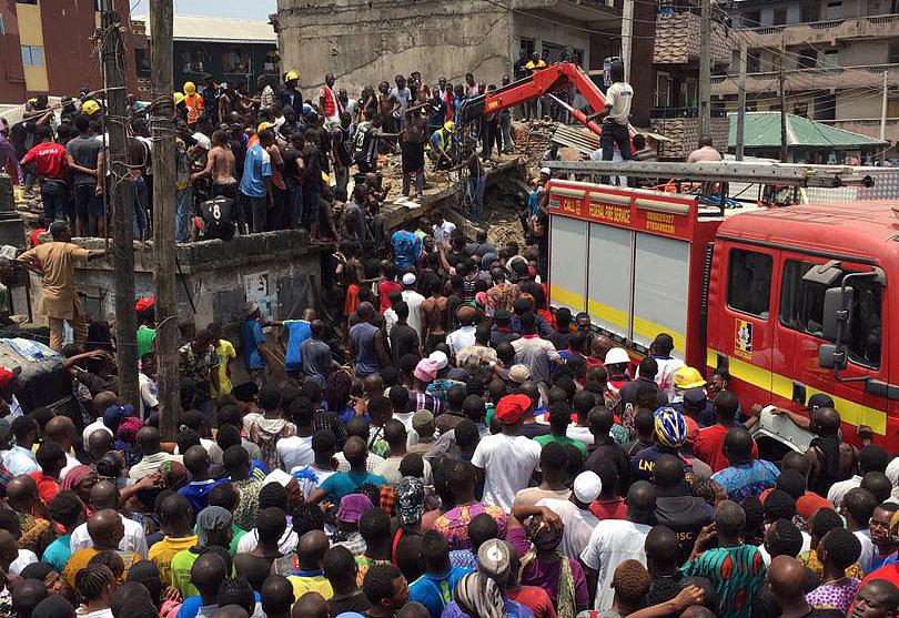 School building collapses in Nigeria's Lagos, casualties feared