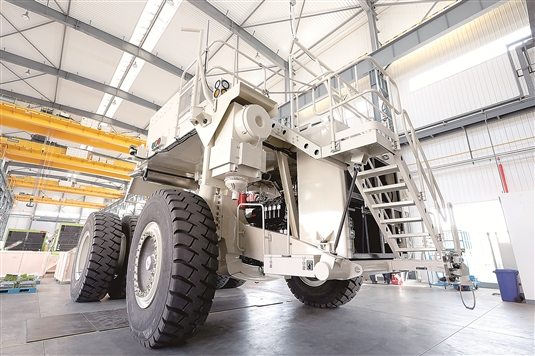 China's first unmanned electric mining truck launched