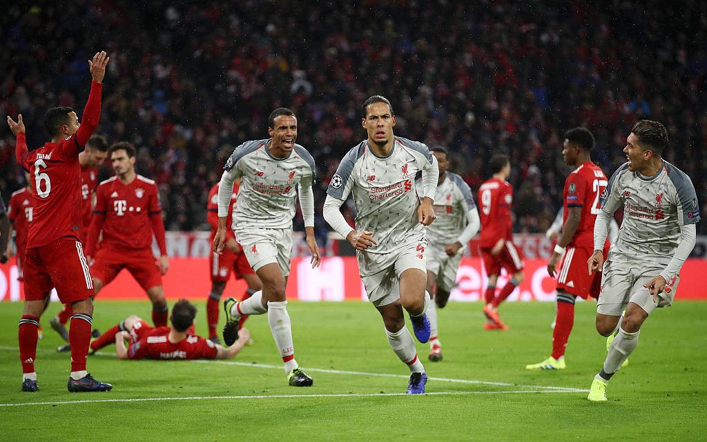 Liverpool beat Bayern Munich to reach Champions League quarter-finals