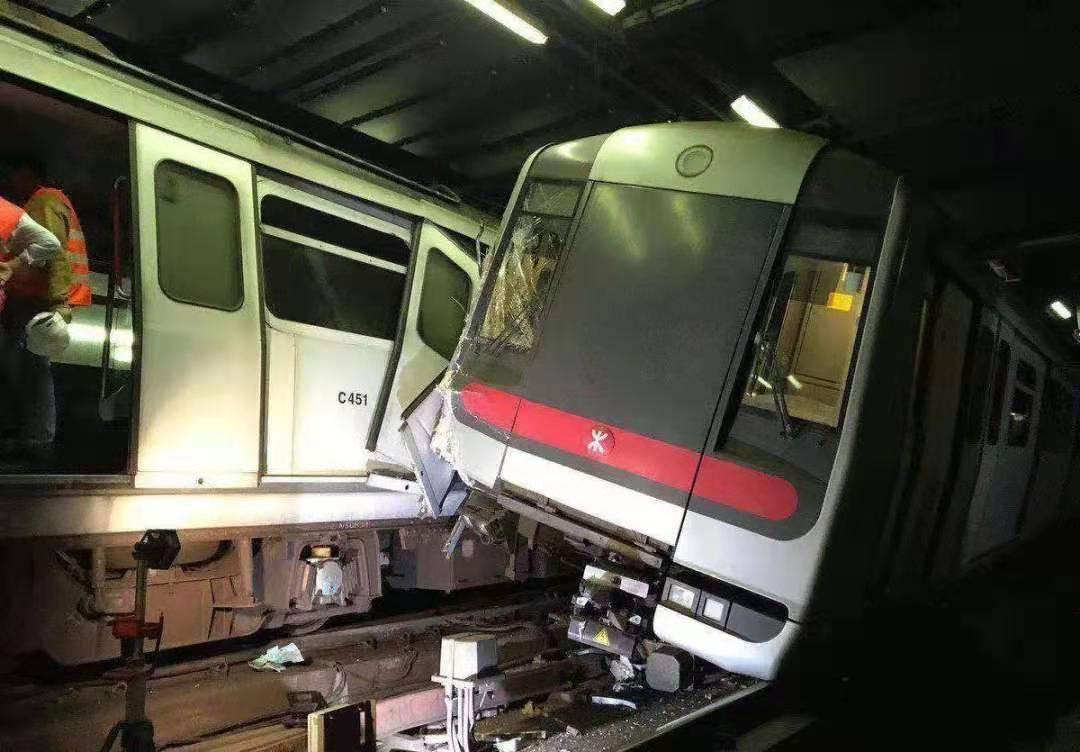 1 driver injured as Hong Kong MTR trains collide