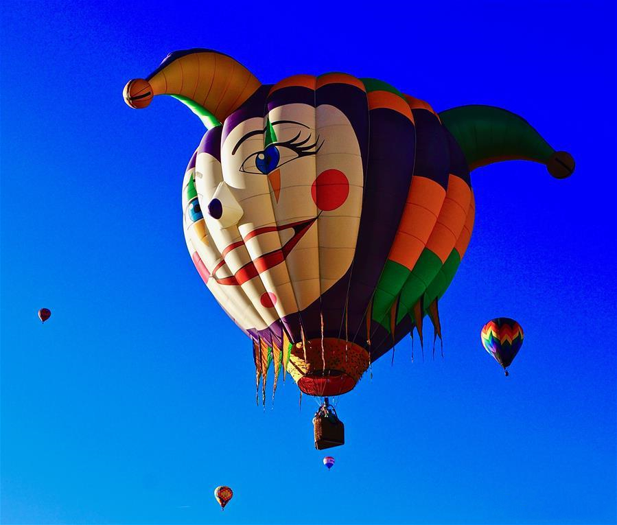 St. Patrick's Day Hot Air Balloon Rallye held in New Mexico, US
