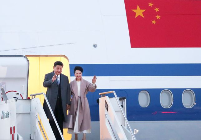Chinese president arrives in Italy for state visit