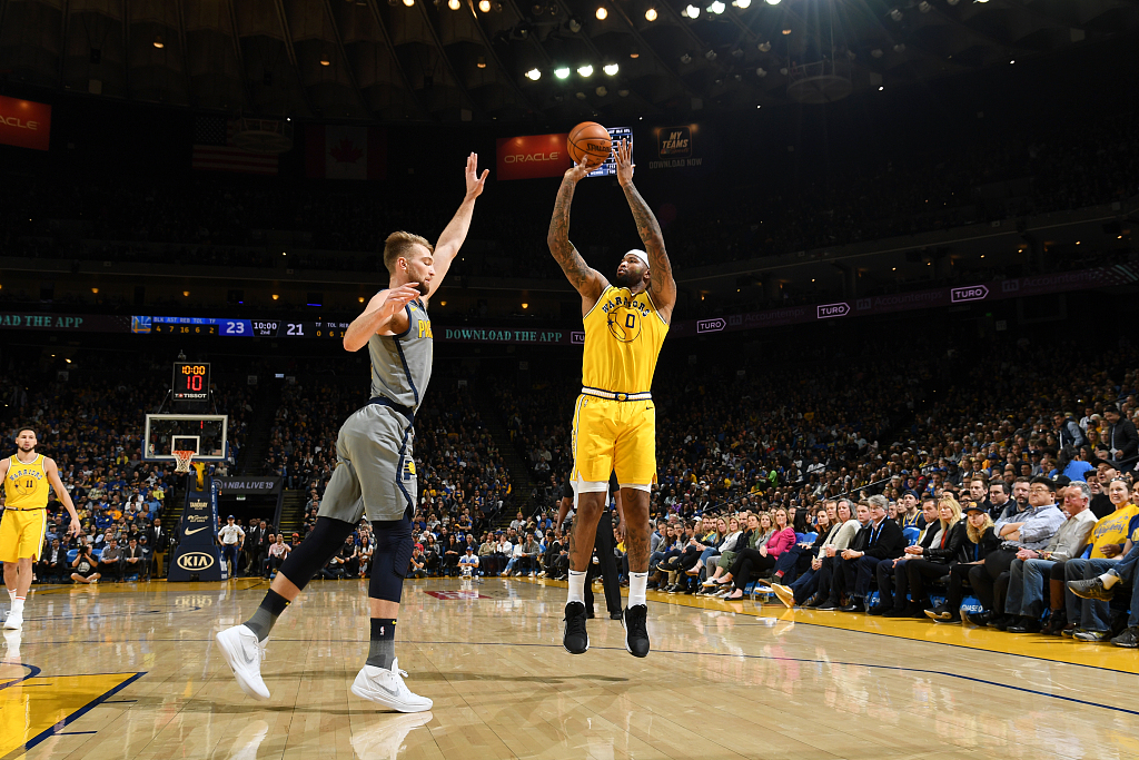 Warriors rout Pacers, Nuggets grind out win over Wizards