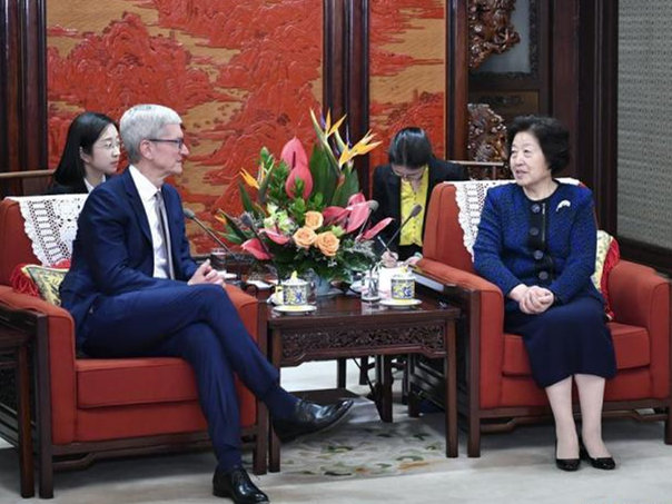 Chinese vice premier meets Apple CEO