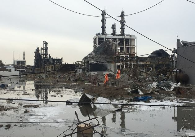 Rivers blocked to prevent pollution into sea after deadly blast