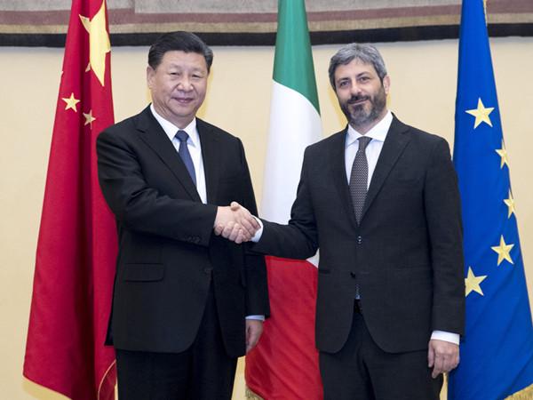 Xi meets Italian lower house speaker