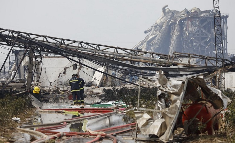 Take a closer look at the core area of the Xiangshui chemical plant explosion site