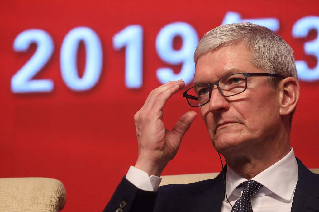 Apple CEO's trip to China focuses on apps amid sinking iPhone sales