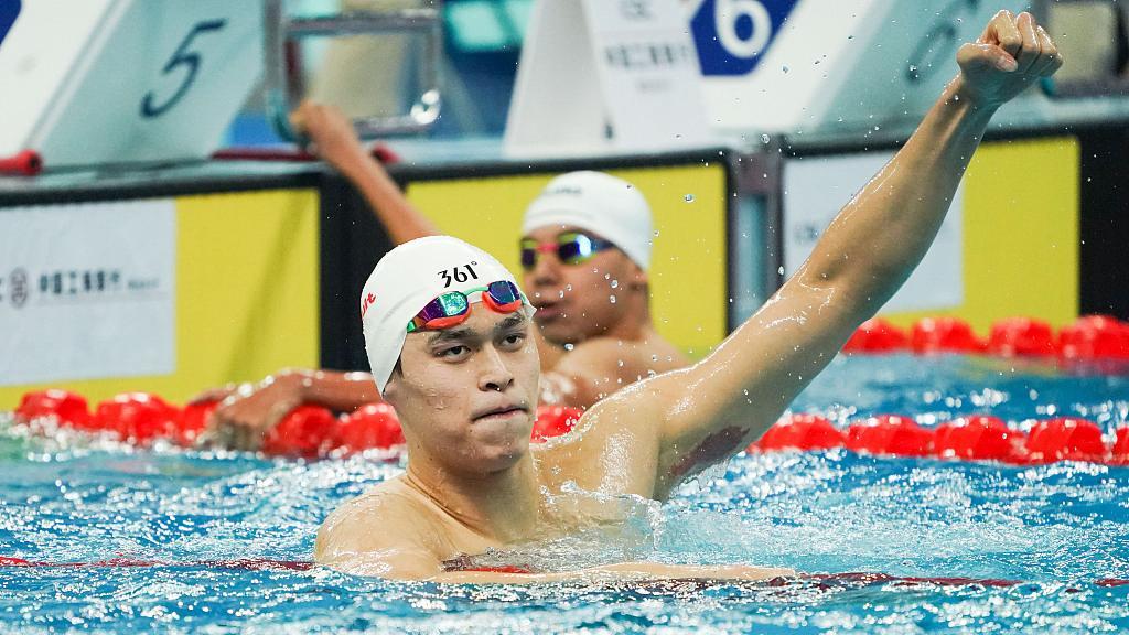 Sun Yang claims 400m free title at China National Swimming Championship