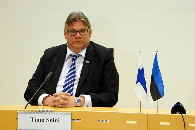 Far right activist tries to attack Finnish FM at political event