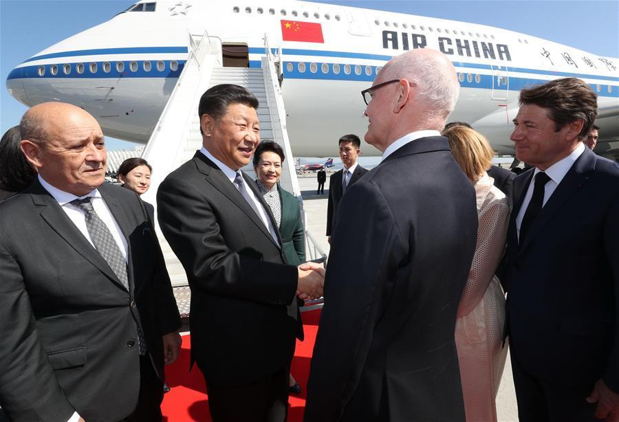 Chinese president arrives in Nice, heading to Monaco for state visit