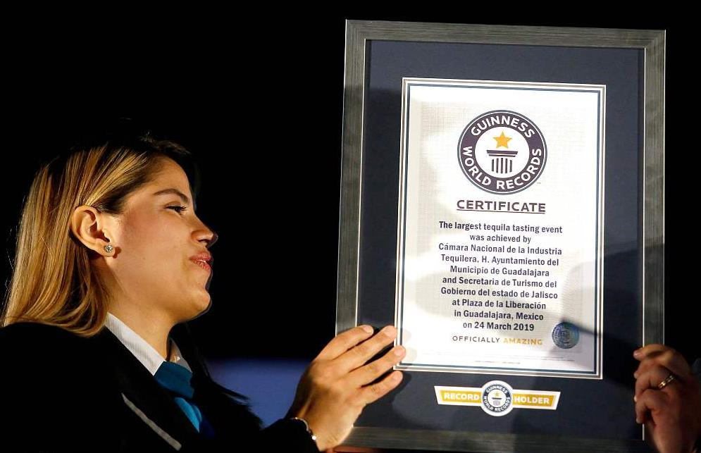 Guinness World Record for the Largest Tequila Tasting Event set in Mexico