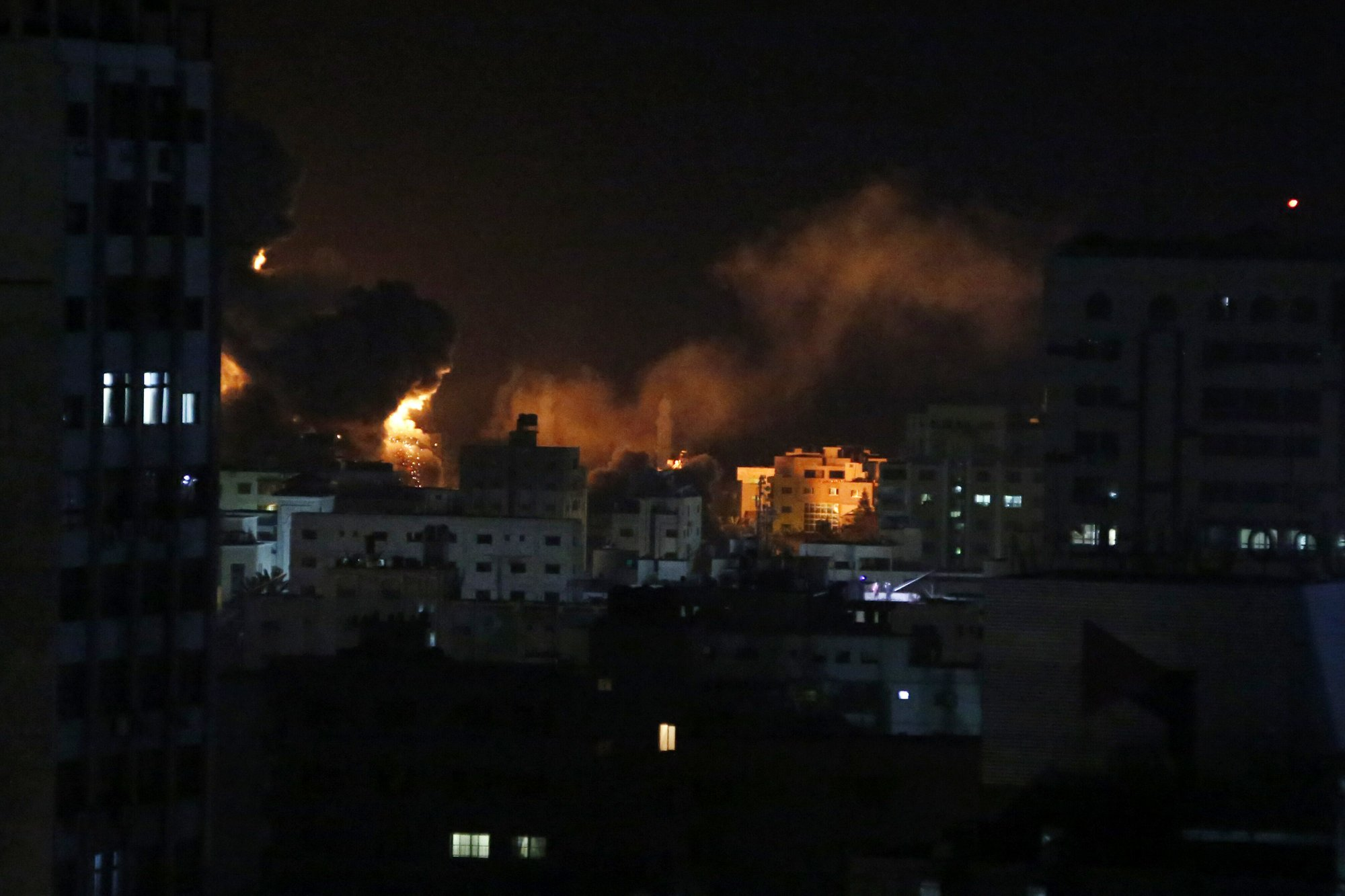 Israel hits targets across Gaza after rocket attack