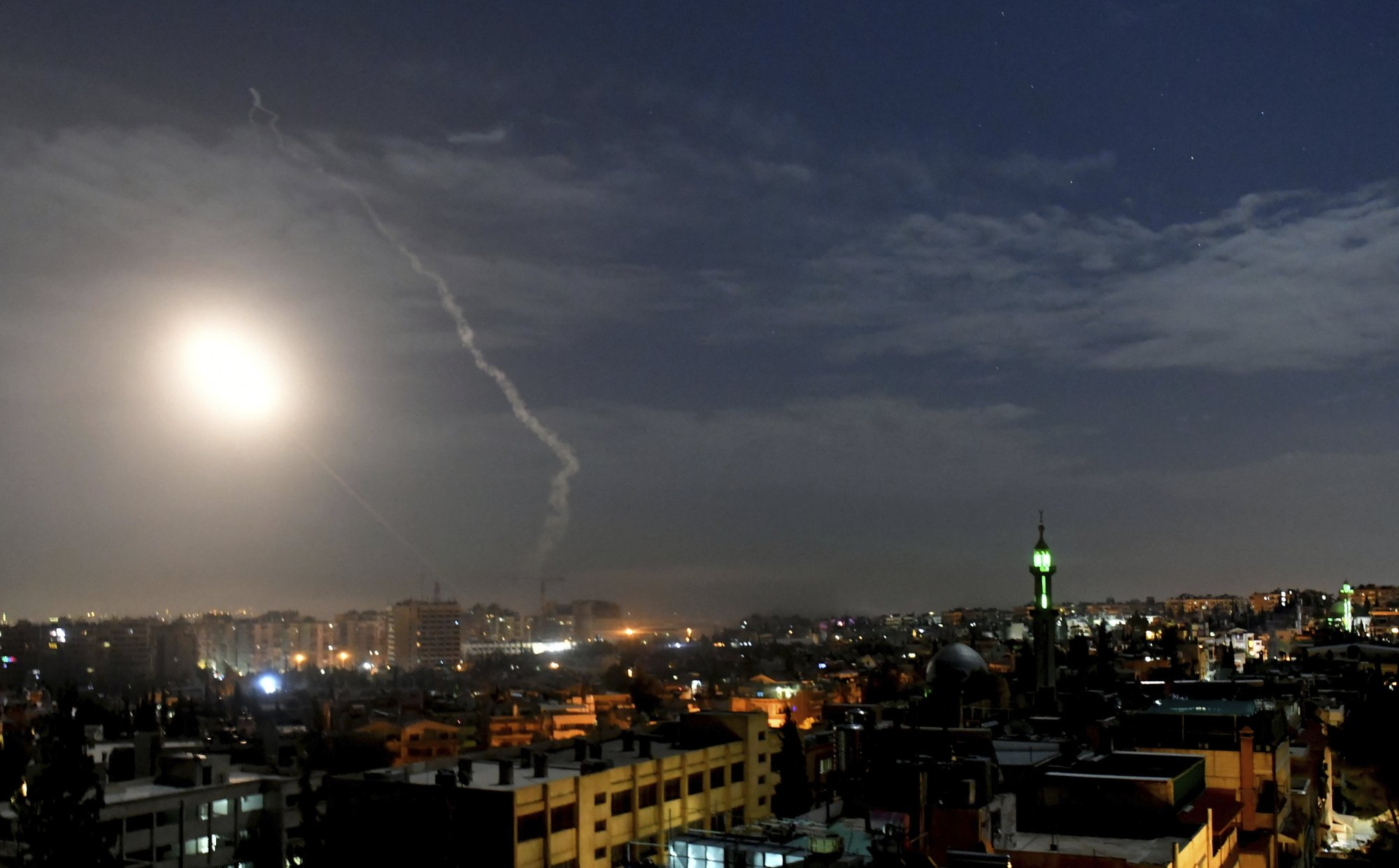 Syria's air defenses respond to Israeli airstrike in Aleppo countryside