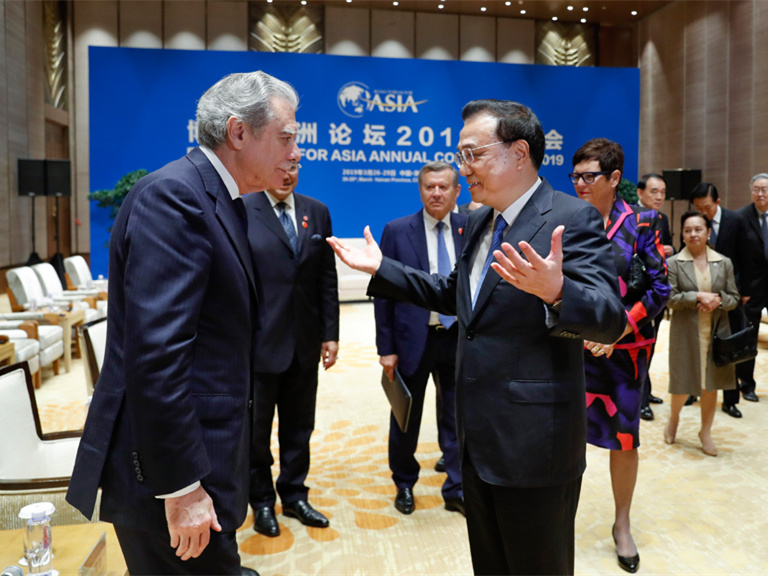 Chinese Premier Li Keqiang stresses multilateralism ahead of 2019 BFA conference
