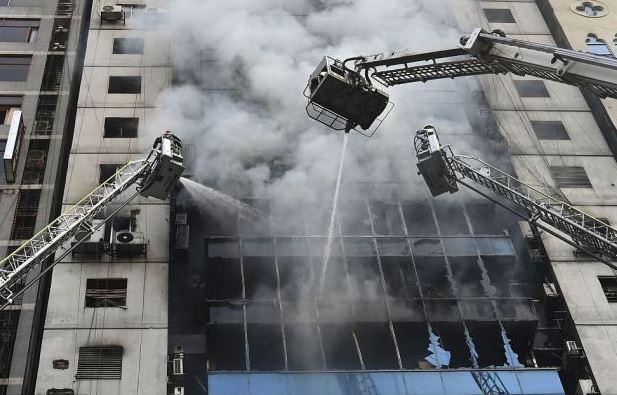 High-rise building fire kills 19 in Bangladesh