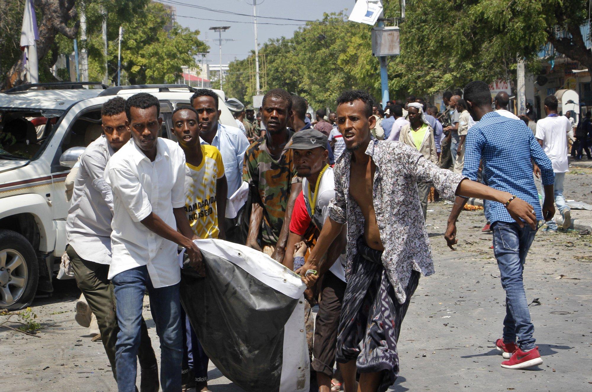 16 dead after blast outside restaurant in Somalia's capital