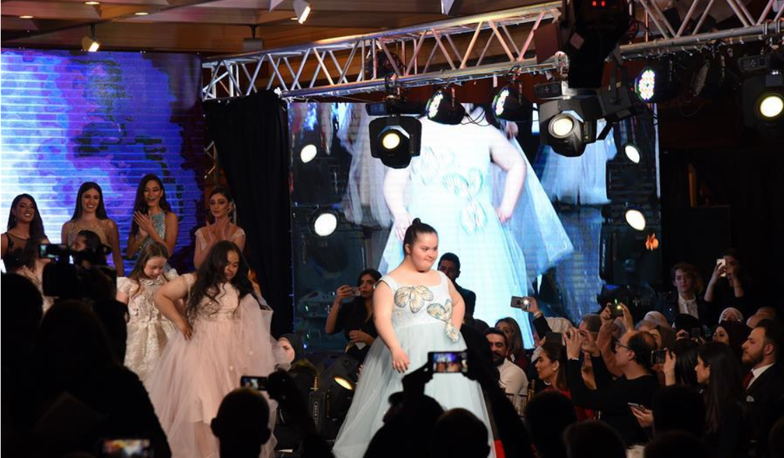 Youths with Down Syndrome hold fashion show in Damascus